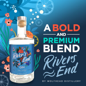 River's End Gin by Wolfhead Distillery